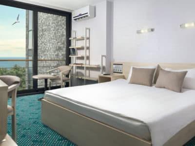 Люкс 2-хкомнатный с 1 двуспальной кроватью и 2 односпал. кроватями Green Park 2
